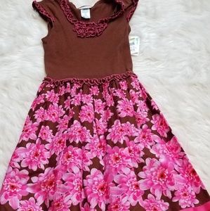 Brown and Pink Bonnie Jean Dress